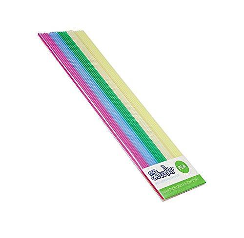 3doodler-filaments-pla-to-the-pen-3doodler-5x5pcs-lt-pnk-lt-blu-grn-wht-fluoresc