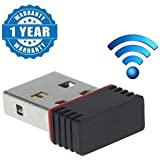 Captcha Wi-Fi Receiver 300Mbps, 2.4Ghz, 802.11B/G/N USB 2.0 Wireless Mini Wi-Fi Network Adapter for Computer & Laptops