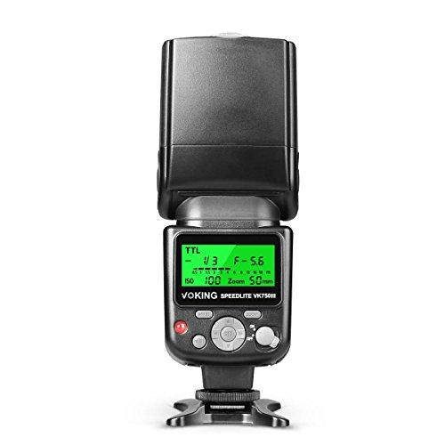 Voking VK750III N pantalla LCD I-TTL Flash Speedlite TTL Nikon D3300/D3400/D5/D500/D5600/D610/D7100/D7200/D7500/D810 y otros de zapata de cámara réflex digital