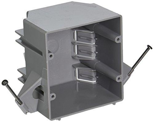 hubbell-raco 7835RAC 2–29/322-Gang nichtmetallischen Kabel Elektro-Karton mit (8) nmsc Rohrschellen und (2) Captive Nägel, 4-Zoll x 3–1/2Zoll
