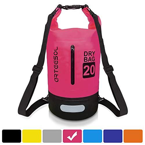 Arteesol Dry Bag, Rucksack Wasserdicht Tasche 5L /10L/ 20L/30L Mit Taille Schnallen Zum Strand Schwimmen Oder Wandern Schützen iPhone Kamera Dokument aus Wasser und dchmutz