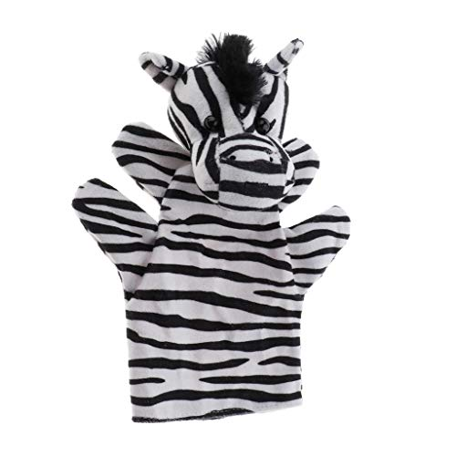 Homyl Animali Domestici Guanto A Mano Puppet Peluche Morbidi Pupazzi Kid Giocattolo per Bambini - Zebra