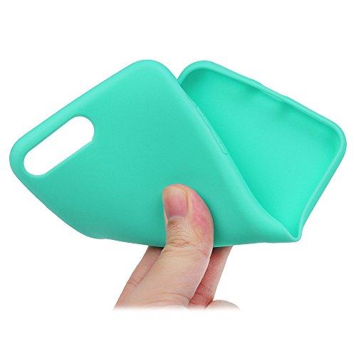 Badalink Hülle für iPhone 7 Plus TPU Case [3 Packs] Matt Einfarbig Cover Ultraslim Dicke 1.5mm Handyhülle Schutzhülle Silikon Bumper Schutz Tasche Schale Antikratz Backcover in Mintgrün Mintgrün