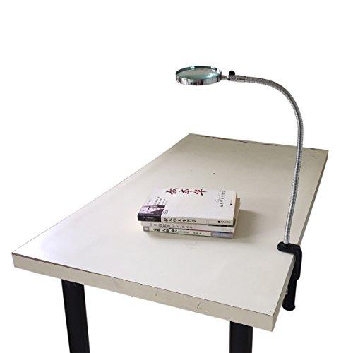 5X Lupe mit Schwanenhals Ø 100 mm und Tischklemme Tischlupe Leselupe Arbeits Lupe
