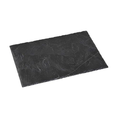5 Stück Kesper Buffet-Platte, Servierplatte, Schieferplatte, geölt, Maße: ca. 400 x 300 x 9 mm, in schwarz - 5 Stück Buffet