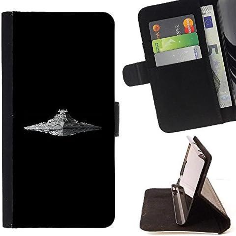 For HTC One M7 Case , Destructor Estelar- la tarjeta de Crédito Slots PU Funda de cuero Monedero caso cubierta de piel