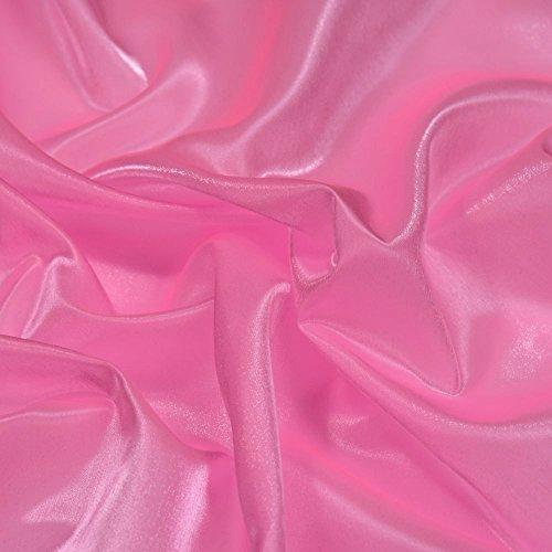 Stoffe Kostüm Irish Dance - Rose Pink Twinkle Glänzend Seidiger Satin Irish Kleid & Dance Stoff 114,3cm 114cm Breite, Meterware,...