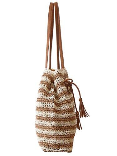 Flada , Sac à main porté au dos pour femme blanc Bag White taille unique Beige/021