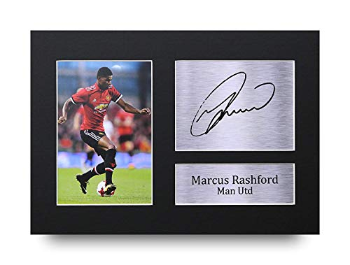 HWC Trading Marcus Rashford Geschenke Unterzeichneten A4 Gedrucktes Autogramm Manchester United Man Utd Druck-Foto-Bilderanzeige