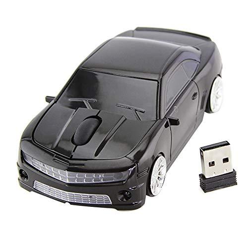 Mini Maus kabellos Wireless Mouse,Coole Auto-Form mit 3 Tasten, Laptop-Maus mit 2,4 GHz,USB-Empfänger für für PC, Computer, Laptop