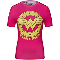 Cody Lundin® T-Shirt manches courtes Femme, Sport Fitness Running Yoga Danse Tees super-héroïne Diana Prince Shirt