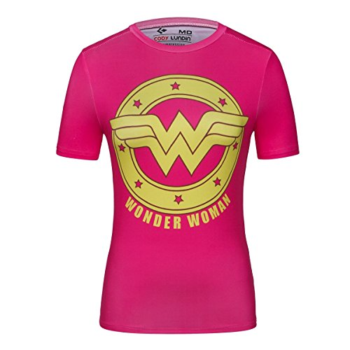 Cody Lundin® T-Shirt manches courtes Femme, Sport Fitness Running Yoga Danse Tees super-héroïne Diana Prince Shirt (Princesse Diana A, M)