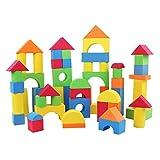 Z ZHIZU Weiche Schaumstoffe Baustein Stacking Kinder pädagogisches Spielzeug Weiche Eva Foam Bausteine der farbigen Ziegel Spielzeug Set (92 pcs)