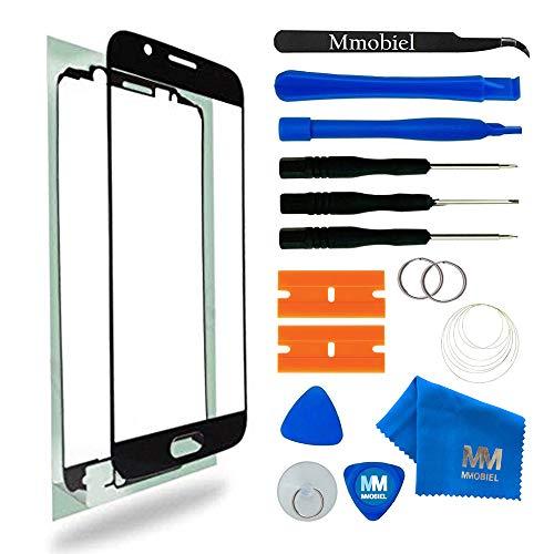 MMOBIEL Kit de Reemplazo de Pantalla Táctil para Samsung Galaxy S6 G920 Series (Negro) Incluye Pantalla de Vidrio/Cinta Adhesiva de 2 mm/Kit de Herramientas/Limpiador de Microfibra/Alambre