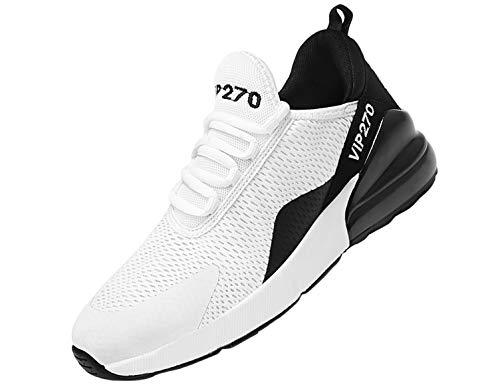 SINOES Femme Homme Chaussures de Sport décontractées pour tissés Volants amortissant Les Chaussures à Coussin d' antidérapantes Chaussures de Course Beige 43 EU