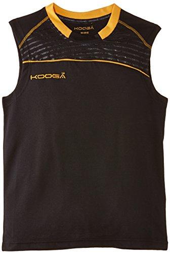 KOOGA Sportshirt Dri-Lite Weste Small schwarz / goldfarben