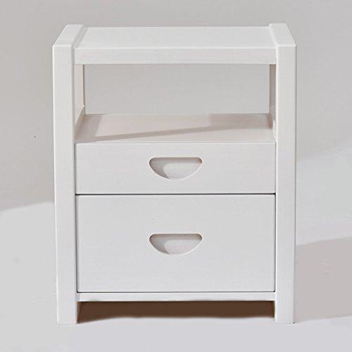 GMN NA Moderner einfacher Nachttisch mit 2 Fächern, Schlafzimmer-Nachttisch-Dekorations-Kabinetten, kleine Mini-Speicher-Kabinette Multi - Holz-speicher-kabinette