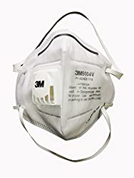 3M AREX010 Valved Antipollution Bike or Scooter Riding Respirator, Pack of 20
