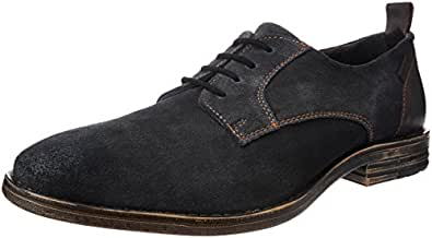 Levi's Men's Nelson Navy Blue Leather Sneakers - 10 UK/India (44 EU)
