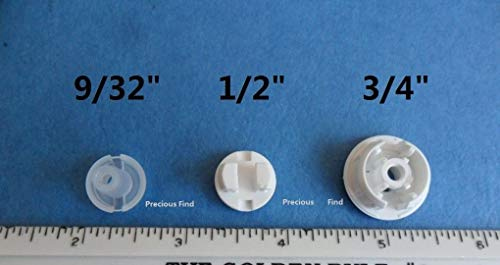 QTY 12horizontale Jalousien unterster Schiene Leiter Kordel Button Plug 9/81,3cm, 1/5,1cm 3/10,2cm, plastik, weiß, 9/32