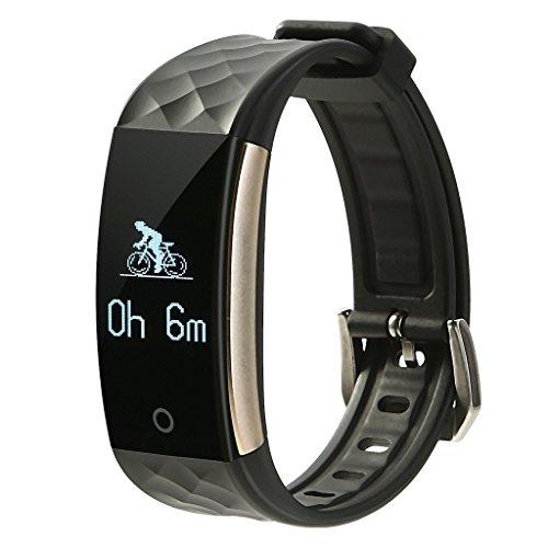 Fitness Armband, Pulsuhr, das Beste Sports Uhr für Radsport und Fitness-Studio - Schwarz