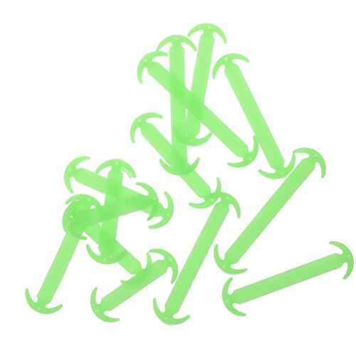 Footful 14pcs/set Green Luminous Silicone No Tie Shoelaces for Sneaker Boots Shoes