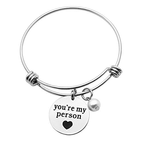 f Perle Geschenke für Freundin Best Friend Valentine Tag Schmuck–You Are My Person (Person Halloween)