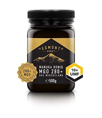Egmont Honey Manuka-Honig 280+ MGO original aus Neuseeland UMF 10+ - 100% rein, zertifiziert, 500 g - Manuka-honig Süßen