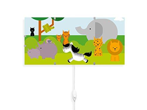 banjado YOURDEA - Kinderzimmer Wandleuchten Wechsel Bild für IKEA GYLLEN 56cm mit Motiv: Wilde Tiere