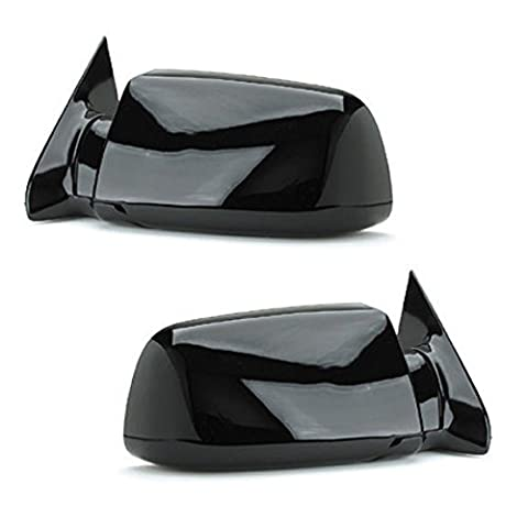 88 - 98 Chevrolet Silverado GMC Sierra Door Mirror Manual Black Pair Set Blazer Jimmy Suburban Tahoe Yukon Driver and Passenger by Not OEM - Gmc Jimmy Aftermarket