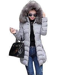 db6cbe8f61fb Ghope Slim Fit Damen Mädchen Winter Mantel mit groß Kapuze Parka  Daunenjacke Warm Winter…