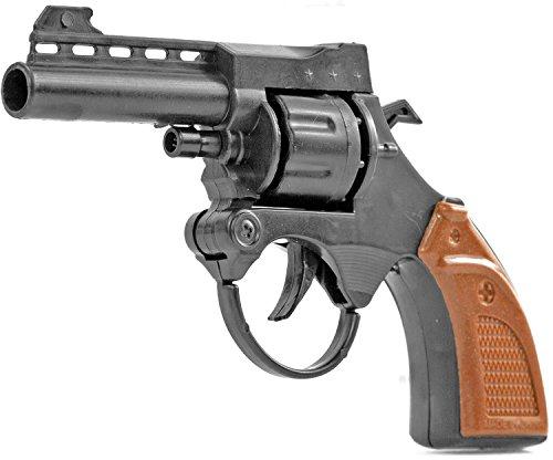 Nick and Ben Kinder-Pistole Revolver Spielzeug-Waffe für Platzpatronen Wild West Cowboy Kostüm Zubehör (Gangster Revolver)