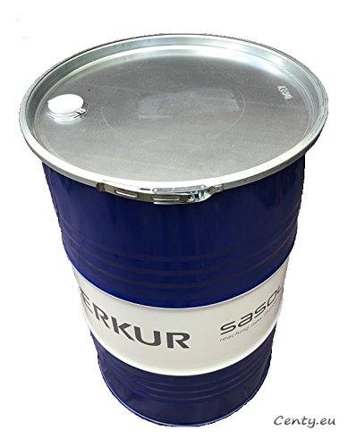 feuer tonne 200 Liter Metallfass mit Deckel Stahlfass Ölfass Feuertonne Behälter Tonne Blechfass Stehtisch