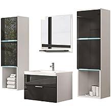 Suchergebnis auf Amazon.de für: Badmöbel Set Modern Schwarz / Weiß | {Badmöbel weiss modern 84}