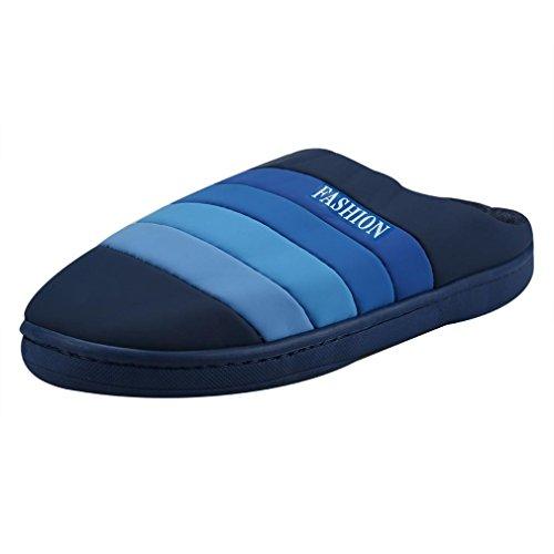 Transer® Unisex Warm Weich Mokassins Casual Schuh Kunstleder+Plastik (Bitte achten Sie auf die Größentabelle. Bitte eine Nummer größer bestellen. Vielen Dank!) Blau