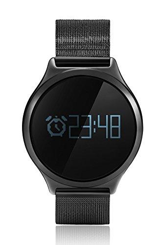 Loluka Mode Fitness Armbanduhr Smartwatch Android Herzfrequenzuhr Blutdruck Armbanduhren Schrittz?hler Uhr Unisex Schwarz (Einstellen Blutdruck)