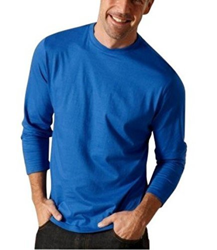 Maglia a maniche lunghe 2 Pezzi - per il Uomo - Blu + Bianco Blu+Bianco