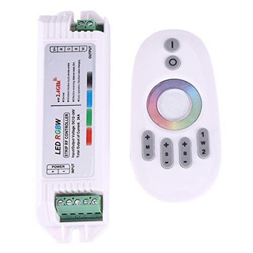Light Controller, 2.4GHz RF écran tactile RGBW LED contrôleur de gradation, DC 12-24V