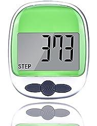 EORCA HOME Écran LCD Poche Sport Podomètre étape/distance/compteur de calories/cardio avec clip ceinture (Vert)
