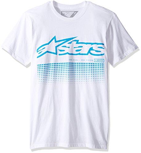 Alpinestars Herren T-Shirt Uniflow Logo Modern Fit Short Sleeve Weiß