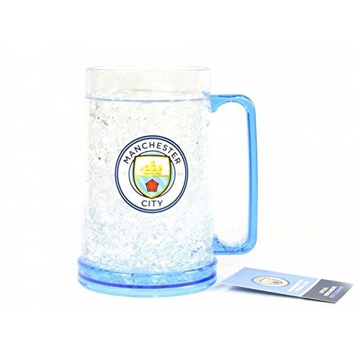 Manchester City FC Offizieller Fußball-Gefrierschrank-Krug (Einheitsgröße) (Klar/Hell Blau) (Fußball-krug)