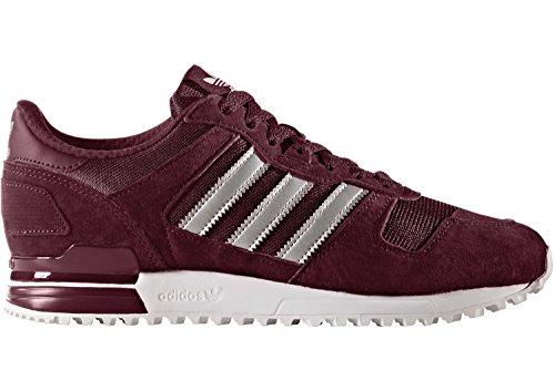 adidas Herren ZX 700 Sneaker, Rot (Maroon/Matte Silver/Footwear White), 46 EU