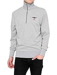 Aeronautica Militare Sweat-Shirt SMALL ZIP, Couleur: Gris, Taille: XXL