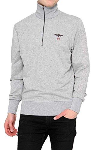 AERONAUTICA MILITARE CF_AM-HS9002 Sweatshirt mit dem Reißverschluss Harren Melange Grey