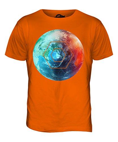 CandyMix Schöne Erde Herren T Shirt Orange