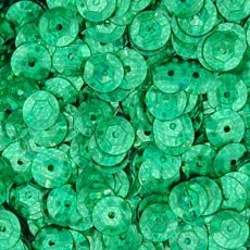 Pinflair Hologram Cup Sequins - Green, 8mm, pk of approx 8g