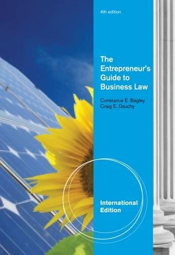 The Entrepreneur's Guide to Business Law, International Edition