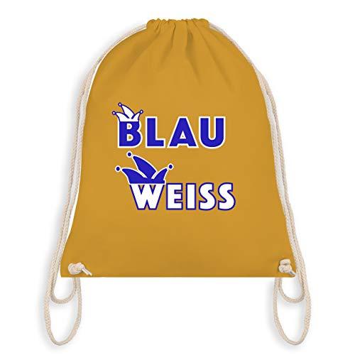 Karneval & Fasching - Blau weiß Kölle Alaaf - Unisize - Senfgelb - WM110 - Turnbeutel & Gym Bag