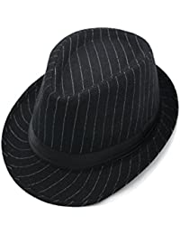 JEDAGX Mujer Hombre Unisex sombrero de algodón ligero Trilby con banda negra, Summer Beach Sun Jazz, 58cm