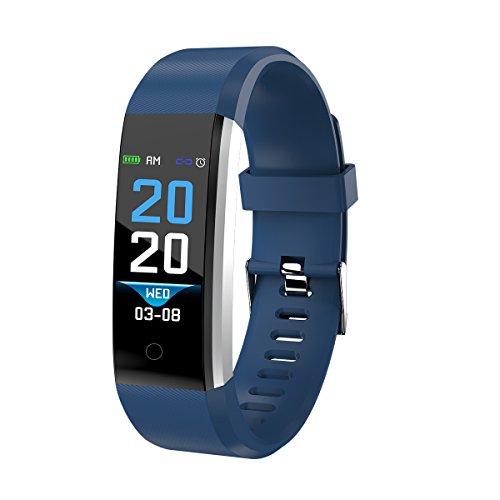 Denver Fitnesstracker 'BFH-16' mit Herzfrequenzmesser und Schrittzähler, Blau -